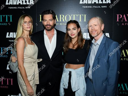 Georgia Connick, Harry Connick Jr, Charlotte Connick and Ron Howard