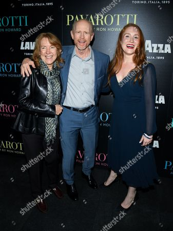 Stock Picture of Cheryl Howard, Ron Howard and Paige Howard