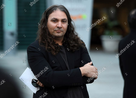 """Adam Granduciel of the rock band The War on Drugs poses at a special screening of the Netflix series """"Marvel's Jessica Jones"""" at the ArcLight Hollywood, in Los Angeles"""