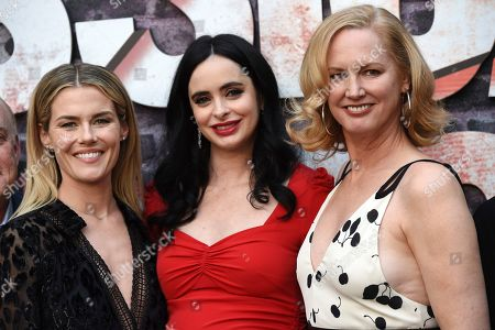 """Krysten Ritter, Rachael Taylor, Melissa Rosenberg. Krysten Ritter, center, star of the Netflix series """"Marvel's Jessica Jones,"""" poses with fellow cast member Rachael Taylor, left, and creator/executive producer Melissa Rosenberg at a special screening of the show at the ArcLight Hollywood, in Los Angeles"""