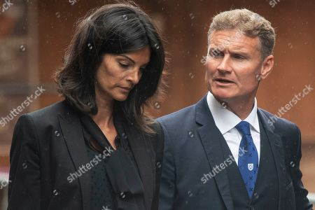 Former Scottish Formula One driver David Coulthard (R) and his wife Karen Minier (L) arrive for a memorial service for Niki Lauda at Saint Stephen's Cathedral in Vienna, Austria, 29 May 2019. Austrian Formula One legend Niki Lauda died on 20 May 2019 at the age of 70. Lauda won the Formula One championship in 1975, 1977, and 1984 and founded three airlines.