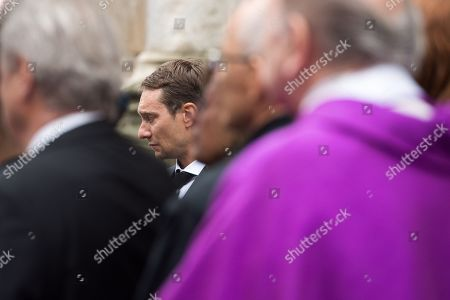 Son of Niki Lauda, Mathias attends a memorial service for his father at Saint Stephen's Cathedral in Vienna, Austria, 29 May 2019. Austrian Formula One legend Niki Lauda died on 20 May 2019 at the age of 70. Lauda won the Formula One championship in 1975, 1977, and 1984 and founded three airlines.
