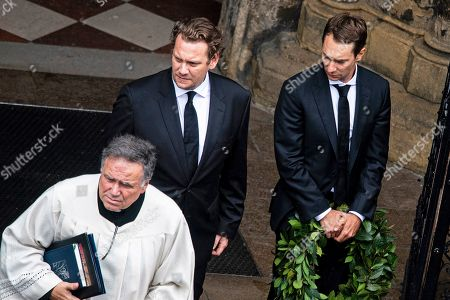 Niki Lauda's sons Mathias (R) and Lukas (C) attend a memorial service for Niki Lauda at Saint Stephen's Cathedral in Vienna, Austria, 29 May 2019. Austrian Formula One legend Niki Lauda died on 20 May 2019 at the age of 70. Lauda won the Formula One championship in 1975, 1977, and 1984 and founded three airlines.