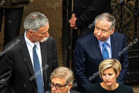 Formula One Group CEO Chase Carey (L) and International Automobile Federation (FIA) president Jean Todt (R) attend a memorial service for Niki Lauda at Saint Stephen's Cathedral in Vienna, Austria, 29 May 2019. Austrian Formula One legend Niki Lauda died on 20 May 2019 at the age of 70. Lauda won the Formula One championship in 1975, 1977, and 1984 and founded three airlines.