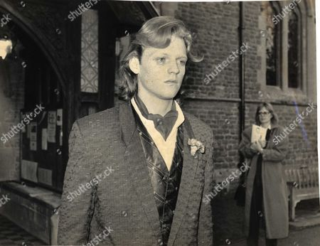 Cushan Thomas Son Of Terry-thomas Pictured At The Comedian's Funeral In 1990.