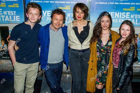 Stock Photo of Helie Thonnat,Ivan Calberac, Valerie Bonneton, Coline D Inca, Luna Lou