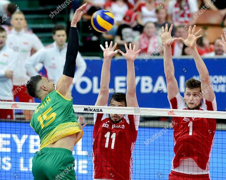Editorial picture of Poland v Australia, FIVB Volleyball Nations League match, Katowice, Poland - 31 May 2019