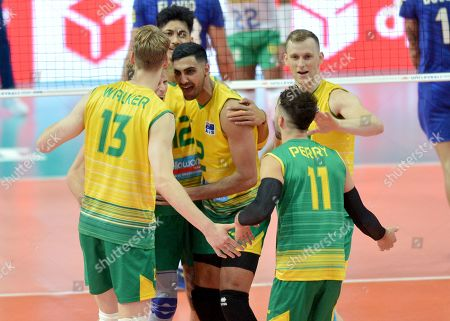 Editorial picture of Brazil v Australia, FIVB Volleyball Nations League match, Katowice, Poland - 01 Jun 2019