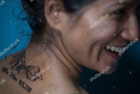 Nepalese photo journalist and Everest summiteer Purnima Shrestha gets tattoo art of Mount Everest during the International Everest Day in Kathmadu, Nepal, 29 May 2019. Purnima is a first female photo journalist of Nepal who has summited 8848 meter high Mount Everest at 8:10 am on 19 May 2018. Nepal is celebrating the 'International Everest Day' with various events on 29 May 2019 commemorating the first climb to the summit on 29 May 1953 by Sir Edmund Hillary and Tenzing Norgay Sherpa.
