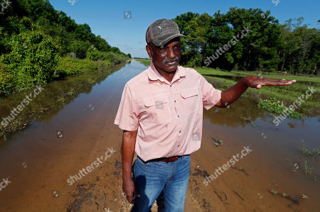 Larry Walls, a farmer and businessman stands at the edge of a backwater flooded road leading to his 560 acres of rented farm land near Louise, Miss. Walls can no longer drive to the property without the possibility of getting flooded or stuck. Four months into what seems like a never-ending flood, he's been trying to stay busy. He pressure-washed his church, and he's been shooting the snakes that slither out of a swollen creek submerging his backyard