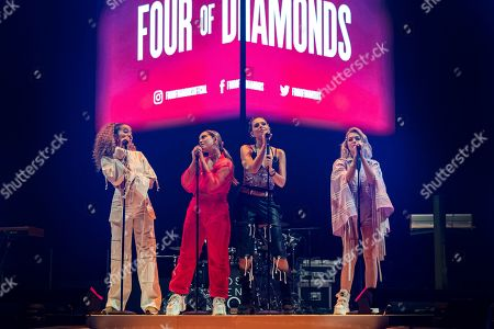 Editorial image of Four Of Diamonds in concert at First Direct Arena, Leeds, UK - 28 May 2019