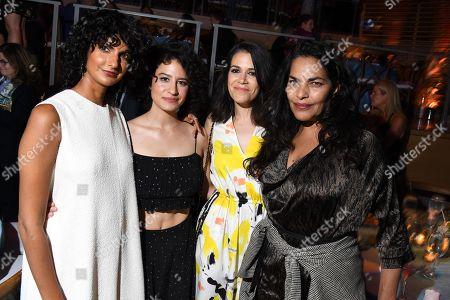 Poorna Jagannathan, Ilana Glazer, Abbi Jacobson, and guest
