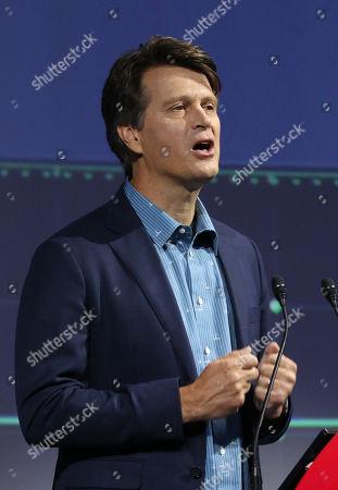 Stock Photo of Mobile game app company Niantic CEO John Hanke speaks