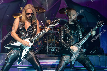 Richie Faulkner and Andy Sneap perform in concert with Judas Priest