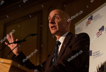 Editorial image of Future of British Politics Speech, London, UK - 29th May 2019