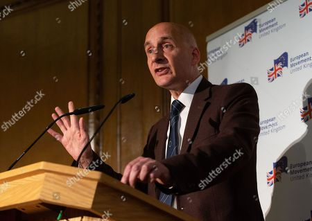 Stock Picture of Lord Adonis gives a speech on the future of British politics