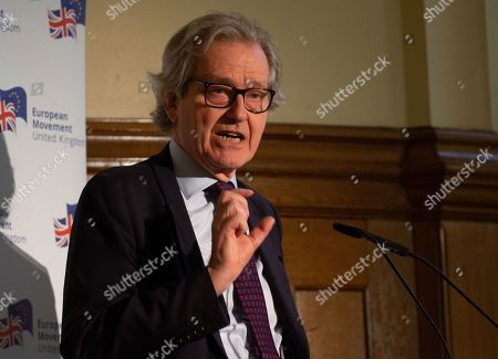 Editorial picture of Future of British Politics Speech, London, UK - 29th May 2019