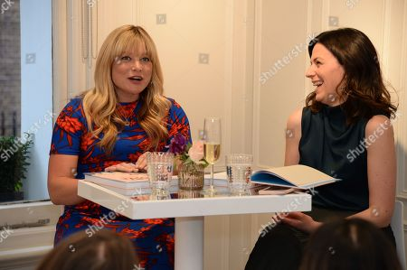 Stock Picture of Kate Bryan discussing her book 'The Art of Love' with Martina Batovic