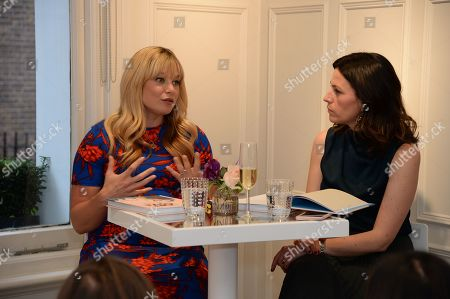 Stock Image of Kate Bryan discussing her book 'The Art of Love' with Martina Batovic