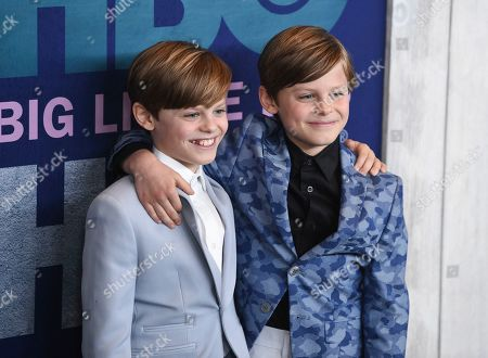 """Nicholas Crovetti, Cameron Crovetti. Actors Nicholas Crovetti, left, and Cameron Crovetti attend the premiere of HBO's """"Big Little Lies"""" season two at Jazz at Lincoln Center, in New York"""