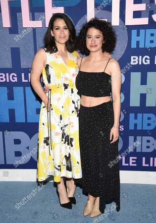 """Abbi Jacobson, Ilana Glazer. Actors Abbi Jacobson, left, and Ilana Glazer attend the premiere of HBO's """"Big Little Lies"""" season two at Jazz at Lincoln Center, in New York"""