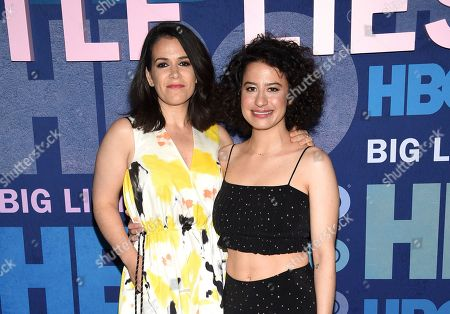"Abbi Jacobson, Ilana Glazer. Actors Abbi Jacobson, left, and Ilana Glazer attend the premiere of HBO's ""Big Little Lies"" season two at Jazz at Lincoln Center, in New York"