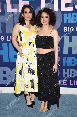 "Abbi Jacobson, Ilana Glazer. Abbi Jacobson, left, and Ilana Glazer attend the premiere of HBO's ""Big Little Lies"" season two at Jazz at Lincoln Center, in New York"