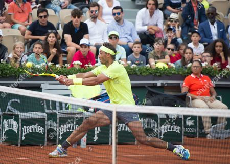 Rafael Nadal (ESP) defeated Yannick Maden (GER) 6-1, 6-2, 6-4, at the French Open being played at Stade Roland-Garros in Paris, France