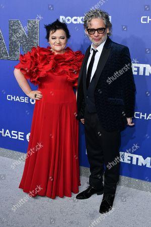 Director Dexter Fletcher (R) and wife Dalia Ibelhauptaite
