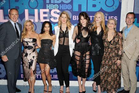Bob Greenblatt, Reese Witherspoon, Zoe Kravitz, Laura Dern, Shailene Woodley, Nicole Kidman, Meryl Streep and Casey Bloys