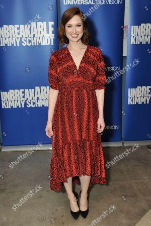 """Stock Image of Ellie Kemper attends the """"Unbreakable Kimmy Schmidt"""" FYC event at Upright Citizens Brigade Theatre, in Los Angeles"""