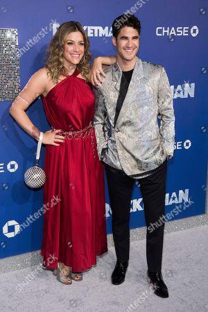"Darren Criss, Mia Swier. Mia Swier and Darren Criss attend the premiere of ""Rocketman"" at Alice Tully Hall, in New York"