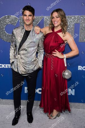 "Darren Criss, Mia Swier. Darren Criss and Mia Swier attend the premiere of ""Rocketman"" at Alice Tully Hall, in New York"