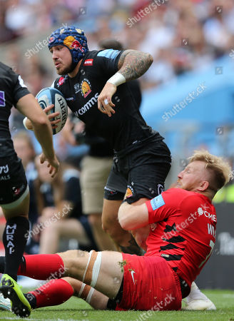 Editorial picture of Exeter Chiefs v Saracens, Gallagher Premiership Final, Rugby Union, Twickenham Stadium, London, UK - 01 Jun 2019