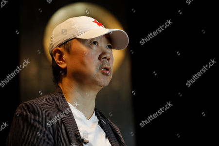 Stock Photo of Chinese rock star Cui Jian speaks during an interview at the East Shore jazz bar in Beijing, China, 15 May 2019 (issued 30 May 2019). Chinese rock star Cui Jian is the writer of 'Yiwusuoyou', a song that became the 'anthem' of the Tiananmen protests in 1989.
