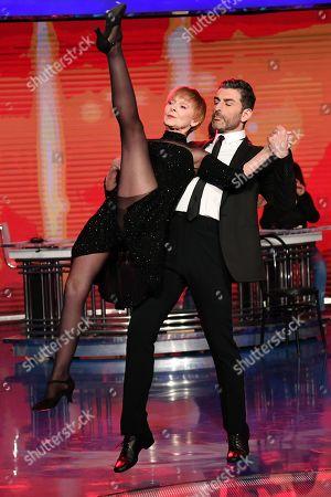 Stock Photo of Milena Vukotic dancing with Simone Di Pasquale