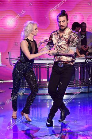 Stock Photo of Dani Osvaldo dancing with Veera Kinnunen