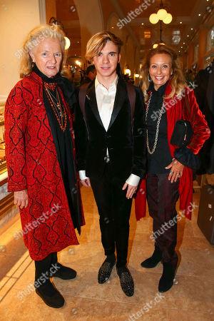 Stock Photo of Sophie Countess of Walderdorff, star violinist Yury Revich, duchess Serra di Cassano, Helmut Berger