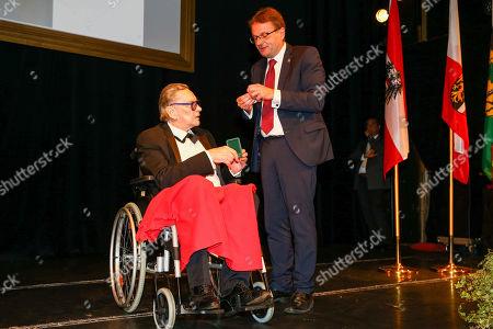 Helmut Berger, Mayor Hannes Heide, Helmut Berger