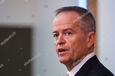 Former Australian Opposition Leader Bill Shorten addresses a Labor party Caucus meeting at Parliament House in Canberra, Australian Capital Territory, Australia, 30 May 2019. The 46th parliament is expected to open in the first week of July 2019.