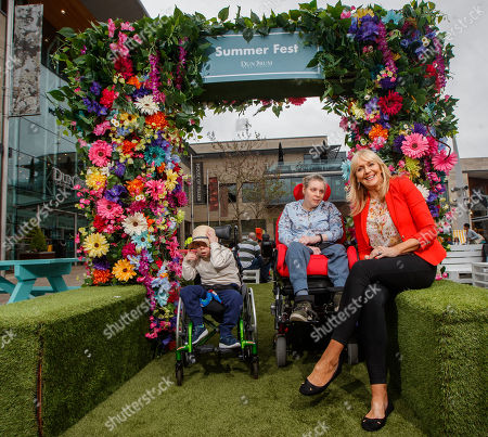 Miriam O'Callaghan joins Changing Places campaigners Ann Healy with her daugher Ailis, and Aisling McNiffe with her son Jack along with General Manager of Dundrum Town Centre, Don Nugent to officially open the new ?120,000 fully accessible toilet facilities at Dundrum Town Centre, the first shopping centre to register a Changing Places facility in Ireland. Pictured are Miriam O'Callaghan with Jack McNiffe and Ailis Healy