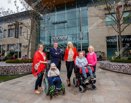 Miriam O'Callaghan joins Changing Places campaigners Ann Healy with her daugher Ailis, and Aisling McNiffe with her son Jack along with General Manager of Dundrum Town Centre, Don Nugent to officially open the new ?120,000 fully accessible toilet facilities at Dundrum Town Centre, the first shopping centre to register a Changing Places facility in Ireland.