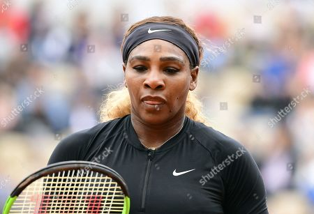Serena Williams of the USA plays Kurumi Nara of Japan during their women?s second round match during the French Open tennis tournament at Roland Garros in Paris, France, 30 May 2019.