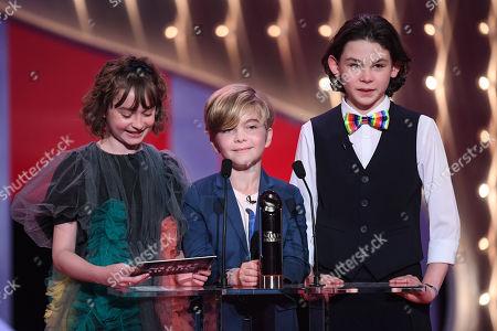 Pixie Davies, Nathaniel Saleh and Joel Dawson