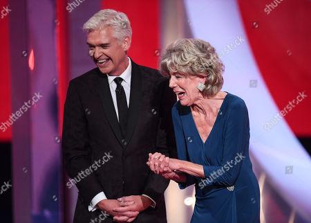 Sue Nicholls - Outstanding Achievement, with Phillip Schofield