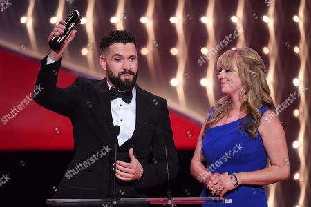 Stock Picture of Shayne Ward and Sally-Ann Matthews - Best Storyline - The Impact of Aidan's Suicide - Coronation Street