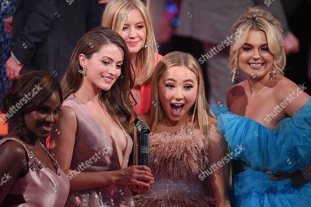 Kelle Bryan, Lauren McQueen, Alexandra Fletcher, Ruby O'Donnell amnd Tallia Storm - Best British Soap - Hollyoaks