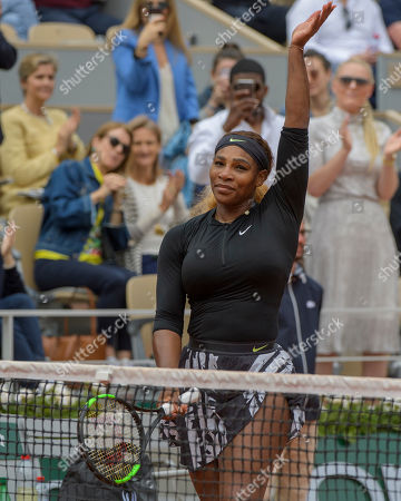 Serena Williams (USA) after her match with Kurumi Nara (JPN).