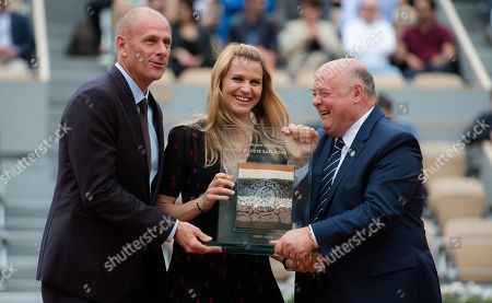 Stock Image of Lucie Safarova of the Czech Republic at her retirement ceremony at the 2019 Roland Garros Grand Slam tennis tournament