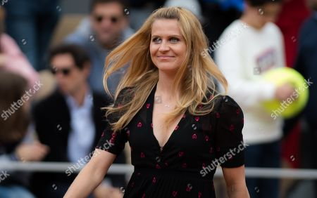 Stock Picture of Lucie Safarova of the Czech Republic at her retirement ceremony at the 2019 Roland Garros Grand Slam tennis tournament